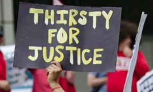 Thirsty for Justice Rally