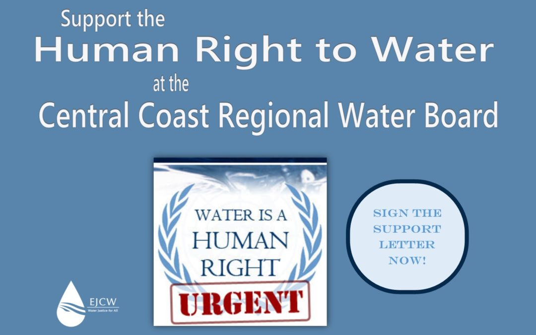 Support the Human Right to Water! Sign-on!