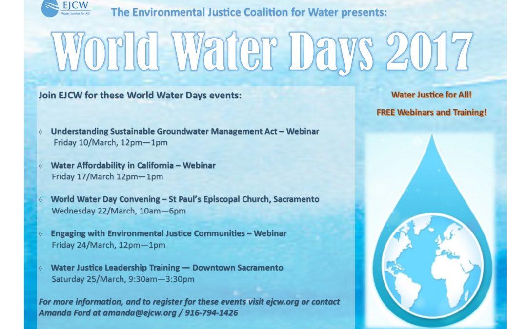 EJCW Presents: World Water Days 2017