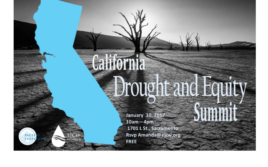 Drought and Equity in California Summit