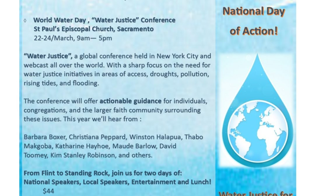 Register Now! for the Trinity Institute Water Justice Conference in Sacramento!